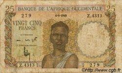 25 Francs type 1943 AFRIQUE OCCIDENTALE FRANÇAISE (1895-1958)  1948 P.38 B