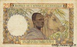 25 Francs type 1943 AFRIQUE OCCIDENTALE FRANÇAISE (1895-1958)  1948 P.38 TB+