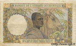 25 Francs type 1943 AFRIQUE OCCIDENTALE FRANÇAISE (1895-1958)  1949 P.38 TTB