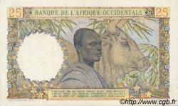 25 Francs AFRIQUE OCCIDENTALE FRANÇAISE (1895-1958)  1949 P.38 TTB+