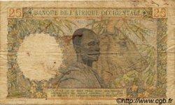 25 Francs AFRIQUE OCCIDENTALE FRANÇAISE (1895-1958)  1950 P.38 B+