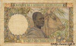 25 Francs type 1943 AFRIQUE OCCIDENTALE FRANÇAISE (1895-1958)  1950 P.38 TB