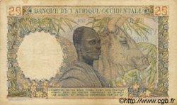 25 Francs type 1943 AFRIQUE OCCIDENTALE FRANÇAISE (1895-1958)  1950 P.38 TTB