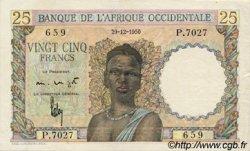 25 Francs type 1943 AFRIQUE OCCIDENTALE FRANÇAISE (1895-1958)  1950 P.38 pr.SUP