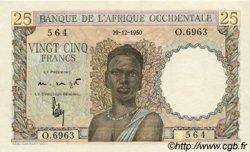 25 Francs type 1943 AFRIQUE OCCIDENTALE FRANÇAISE (1895-1958)  1950 P.38 SPL