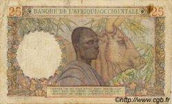 25 Francs type 1943 AFRIQUE OCCIDENTALE FRANÇAISE (1895-1958)  1951 P.38 TB