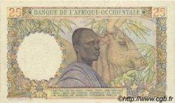 25 Francs AFRIQUE OCCIDENTALE FRANÇAISE (1895-1958)  1951 P.38 TTB