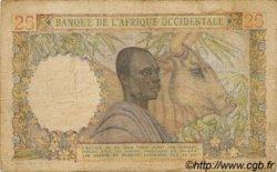 25 Francs type 1943 AFRIQUE OCCIDENTALE FRANÇAISE (1895-1958)  1951 P.38 B+