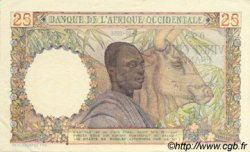 25 Francs type 1943 AFRIQUE OCCIDENTALE FRANÇAISE (1895-1958)  1951 P.38 SUP