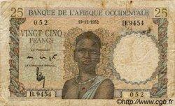 25 Francs type 1943 AFRIQUE OCCIDENTALE FRANÇAISE (1895-1958)  1952 P.38 B