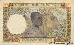 25 Francs type 1943 AFRIQUE OCCIDENTALE FRANÇAISE (1895-1958)  1953 P.38 TTB+
