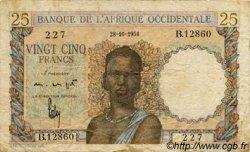 25 Francs AFRIQUE OCCIDENTALE FRANÇAISE (1895-1958)  1954 P.38 B+
