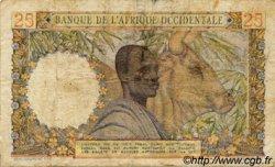 25 Francs type 1943 AFRIQUE OCCIDENTALE FRANÇAISE (1895-1958)  1954 P.38 B+