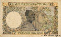 25 Francs type 1943 AFRIQUE OCCIDENTALE FRANÇAISE (1895-1958)  1954 P.38 TB+