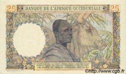 25 Francs type 1943 AFRIQUE OCCIDENTALE FRANÇAISE (1895-1958)  1954 P.38 SUP