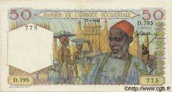50 Francs type 1943 AFRIQUE OCCIDENTALE FRANÇAISE (1895-1958)  1944 P.39 SUP