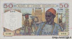 50 Francs type 1943 AFRIQUE OCCIDENTALE FRANÇAISE (1895-1958)  1944 P.39s SPL