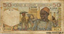 50 Francs AFRIQUE OCCIDENTALE FRANÇAISE (1895-1958)  1948 P.39 B+