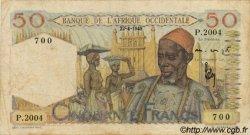 50 Francs type 1943 AFRIQUE OCCIDENTALE FRANÇAISE (1895-1958)  1948 P.39 TB