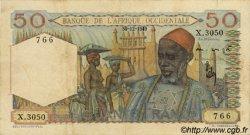 50 Francs AFRIQUE OCCIDENTALE FRANÇAISE (1895-1958)  1949 P.39 TTB
