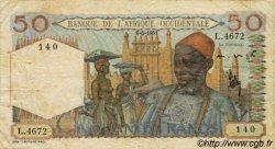 50 Francs type 1943 AFRIQUE OCCIDENTALE FRANÇAISE (1895-1958)  1951 P.39 TB