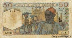 50 Francs AFRIQUE OCCIDENTALE FRANÇAISE (1895-1958)  1951 P.39 B+