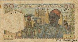 50 Francs type 1943 AFRIQUE OCCIDENTALE FRANÇAISE (1895-1958)  1952 P.39 B+