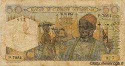 50 Francs AFRIQUE OCCIDENTALE FRANÇAISE (1895-1958)  1954 P.39 B+