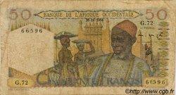 50 Francs type 1943 AFRIQUE OCCIDENTALE FRANÇAISE (1895-1958)  1954 P.39 B