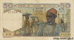 50 Francs AFRIQUE OCCIDENTALE FRANÇAISE (1895-1958)  1954 P.39 TTB