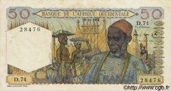 50 Francs type 1943 AFRIQUE OCCIDENTALE FRANÇAISE (1895-1958)  1954 P.39 TTB+