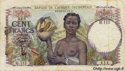 100 Francs type 1943 AFRIQUE OCCIDENTALE FRANÇAISE (1895-1958)  1945 P.40 TB+