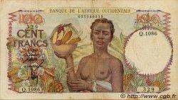 100 Francs type 1943 AFRIQUE OCCIDENTALE FRANÇAISE (1895-1958)  1946 P.40 TB+