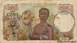 100 Francs type 1943 AFRIQUE OCCIDENTALE FRANÇAISE (1895-1958)  1947 P.40 TB