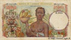 100 Francs type 1943 AFRIQUE OCCIDENTALE FRANÇAISE (1895-1958)  1947 P.40 TB+