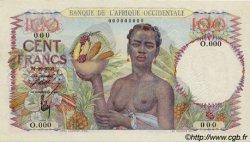 100 Francs type 1943 AFRIQUE OCCIDENTALE FRANÇAISE (1895-1958)  1945 P.40s pr.NEUF