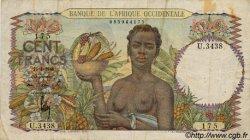 100 Francs type 1943 AFRIQUE OCCIDENTALE FRANÇAISE (1895-1958)  1948 P.40 TB