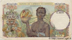 100 Francs FRENCH WEST AFRICA  1948 P.40 VF