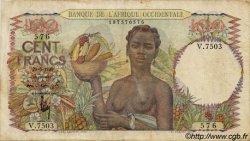 100 Francs type 1943 AFRIQUE OCCIDENTALE FRANÇAISE (1895-1958)  1949 P.40 TB