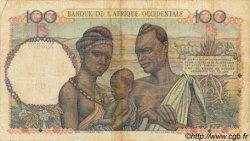 100 Francs type 1943 AFRIQUE OCCIDENTALE FRANÇAISE (1895-1958)  1950 P.40 TB
