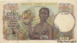 100 Francs type 1943 AFRIQUE OCCIDENTALE FRANÇAISE (1895-1958)  1950 P.40 TTB+
