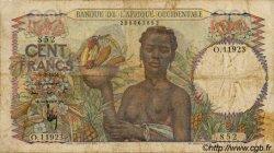 100 Francs type 1943 AFRIQUE OCCIDENTALE FRANÇAISE (1895-1958)  1951 P.40 B+