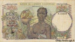 100 Francs type 1943 AFRIQUE OCCIDENTALE FRANÇAISE (1895-1958)  1951 P.40 pr.TTB
