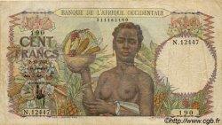 100 Francs AFRIQUE OCCIDENTALE FRANÇAISE (1895-1958)  1951 P.40 TB