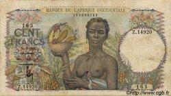 100 Francs AFRIQUE OCCIDENTALE FRANÇAISE (1895-1958)  1952 P.40 TB