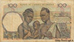 100 Francs type 1943 AFRIQUE OCCIDENTALE FRANÇAISE (1895-1958)  1953 P.40 TB