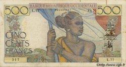 500 Francs type 1943 AFRIQUE OCCIDENTALE FRANÇAISE (1895-1958)  1946 P.41 TTB