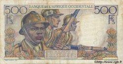 500 Francs type 1943 AFRIQUE OCCIDENTALE FRANÇAISE (1895-1958)  1948 P.41 TB