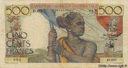 500 Francs AFRIQUE OCCIDENTALE FRANÇAISE (1895-1958)  1948 P.41 TB