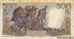 500 Francs AFRIQUE OCCIDENTALE FRANÇAISE (1895-1958)  1948 P.41 TTB